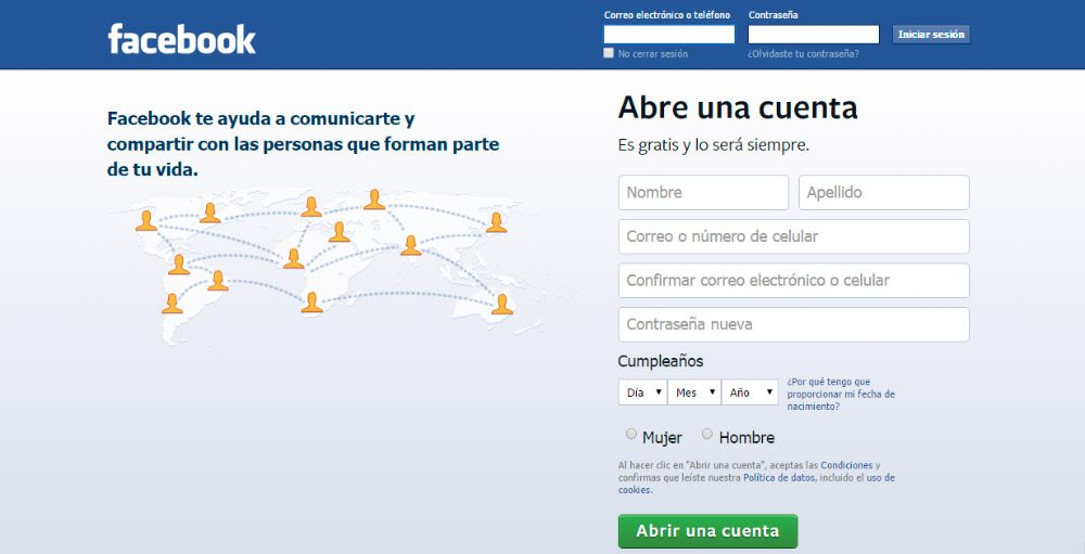 ¿Cómo crear una cuenta en Facebook?