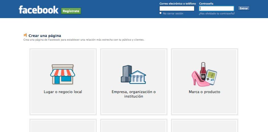 ¿Cómo crear una página en Facebook?