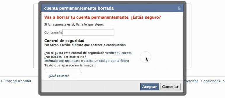 Cómo eliminar un perfil de Facebook