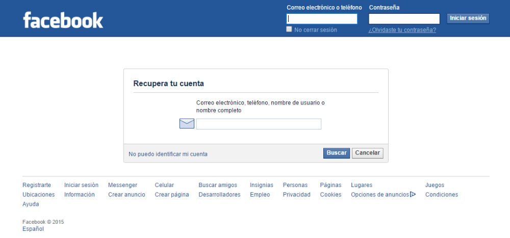 C mo recuperar la contrase a de facebook - Restablecer contrasena ...