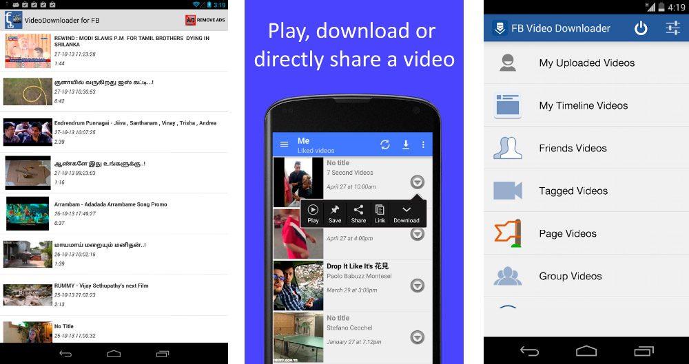 Descargar vídeos de Facebook Android
