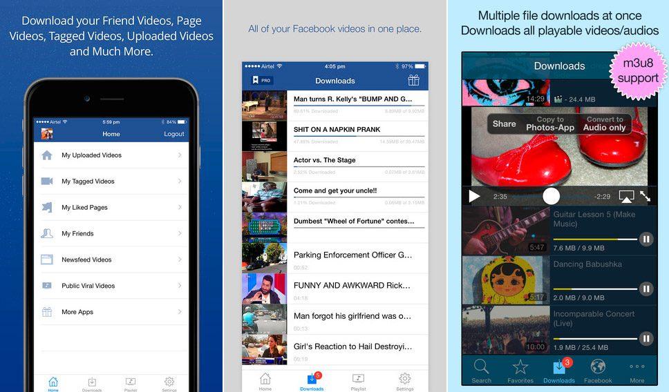 Descargar vídeos de Facebook iOS