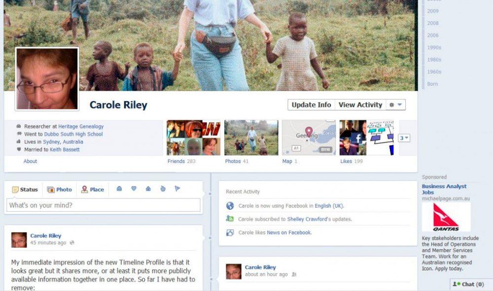 Publicaciones de amigos en Facebook