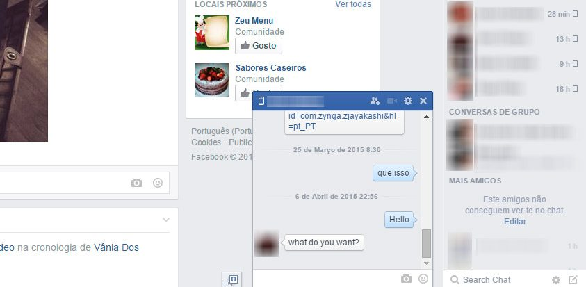 Usar el chat en Facebook